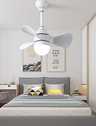 cheap -55 cm Dimmable Ceiling Fan Aluminum Slim Painted Finishes Modern Nordic Style 110-120V 220-240V