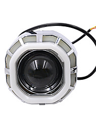 cheap -DC12V-85V motorcycle headlights / built-in octagonal double aperture angel demon eyes big blue small white/big white small blue/big green small blue lamp beads