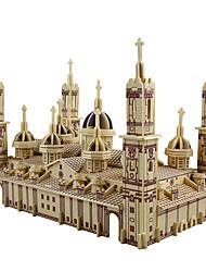 Недорогие -3D пазлы Пазлы Наборы для моделирования Церковь кафедральный собор Плаза дель Пилар Творчество Своими руками моделирование деревянный Классика Детские Взрослые Универсальные Мальчики Девочки Игрушки