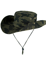 cheap -Sun Hat Fishing Hat Fisherman Hat Hat 1 PCS Portable Sunscreen UV Resistant Breathable Camo Polyester Autumn / Fall Spring Summer for Men's Women's Camping / Hiking Hunting Fishing White Red Army