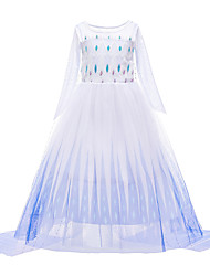 cheap -Frozen Princess Dress Girls' Movie Cosplay Vacation Dress Halloween Christmas White Dress Christmas Halloween