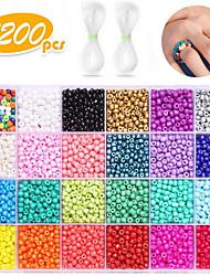 cheap -Personalized Customized Women's DIY Jewelry Findings Kit Handmade Round 1pc / pack Rainbow