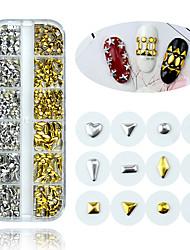 Недорогие -1 коробка золото серебро украшения искусства ногтя мини япония микс шпильки аксессуары ювелирные изделия маникюр металлические подвески для ногтей 3d принадлежности