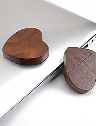 Недорогие -USB 2.0 грецкого ореха в форме сердца USB флэш-диск 1 г 2 г 4 г 8 г 16 г 32 г 64 г 128 г мульти-емкости дополнительно оболочки грецкого ореха