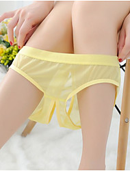 cheap -Women's Basic Brief - Normal Low Waist Yellow Fuchsia Red One-Size