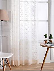 Недорогие -две панели американский стиль золотой вышитый экран занавес полупрозрачный гостиная спальня детская комната экран окна