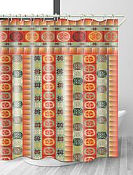 Недорогие -античная этническая цифровая печать занавески для душа водонепроницаемый полиэстер ткань&усилитель; нержавеющая медная пряжка без загрязнения цифровой печати