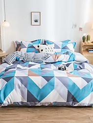 cheap -4pcs modern bedding set Super king size bed linens reactive printing duvet cover set geometry simple style home bed set flat sheet