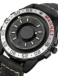 cheap -Men's Sport Watch Japanese Quartz Genuine Leather 30 m Day Date Analog Fashion Cool - Black / Silver Black Brown One Year Battery Life