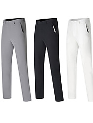 cheap -Men's Golf Pants / Trousers Fast Dry Breathable Sweat wicking Outdoor Autumn / Fall Winter Spring Cotton Solid Color White Black Gray / Micro-elastic