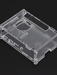 cheap -Raspberry Pi 4B Acrylic Shell Raspberry Pi 4 Transparent Assembly Box For Cooling Fans