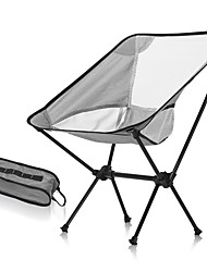 cheap -Camping Chair Portable Foldable Washable Comfortable Aluminum Alloy for 1 person Fishing Beach Camping / Hiking / Caving Traveling Autumn / Fall Summer White Black