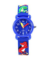 cheap -Kids Sport Watch Quartz Cartoon Water Resistant / Waterproof Analog Black Blue Gray / One Year / Silicone