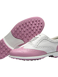 cheap -Women's Golf Shoes Waterproof Breathable Anti-Slip Wearable Golf Outdoor Exercise Spring, Fall, Winter, Summer Pink White