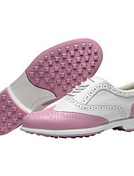 billige -Dame Golfsko Vandtæt Åndbart Anti-glide Påførelig Golf Udendørs Træning Forår, Efterår, Vinter, Sommer Lys pink Hvid