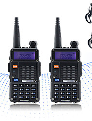 cheap -2PCS BAOFENG 5RT 8W 2800mAh Handheld Dual Band 5KM-10KM Walkie Talkie Two Way Radio / 136-174MHz / 400-520MHz Intercom Small Radio Preofessional FM Transceiver