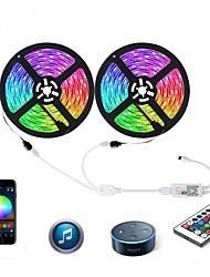 cheap -ZDM LED Light Strips Flexible Tiktok Lights WiFi Intelligent Remote Dimming 2X5M 5050 SMD RGB LED Strip Lighting with IR24 key Controller Kit