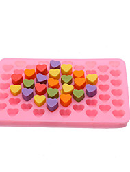 cheap -55 Grid Silicone Ice Maker Mould Chocolate Mold Tray Creative Heart Shaped Ice Cube Cake decoration Mold
