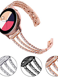 cheap -Watch Band for Samsung Galaxy Watch 46mm / Huawei Watch GT 2 / Samsung Galaxy Watch Active 2 Samsung Galaxy Jewelry Design Stainless Steel Wrist Strap