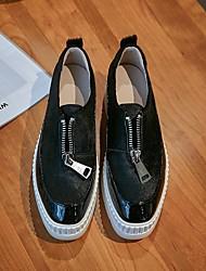 cheap -Women's Sneakers Summer Flat Heel Round Toe Daily PU Black / Red