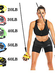 cheap -Exercise Resistance Bands 1 pcs Sports TPE Home Workout Yoga Pilates Strength Training Physical Therapy Full Body Strength Resistance Training For Men Women