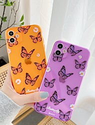 cheap -Phone Case For Apple Back Cover iPhone 12 Pro Max 11 SE 2020 X XR XS Max 8 7 Shockproof Butterfly TPU