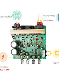 Недорогие -Плата усилителя Цифровой Аудио Стерео 18-24 V 3*80 2,1 Bass Amplifier Адаптеры 20-30000 Hz для авто домашнего кинотеатра