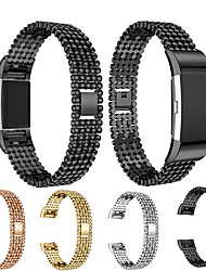 cheap -Replacement Metal Bands for Fitbit Charge 2 Magnet Strap Lock Bead Style Stainless Steel Watch Band