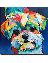 ieftine -imprimeu panza laminata pe panza - animale still life modern art imprime drăguț câine acuarelă pictură imagini moderne wall art cuadros poster și pictură print grafică home decor pentru camera de zi