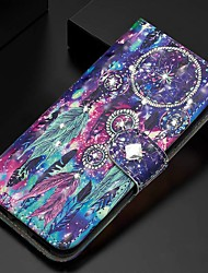 cheap -Case For Samsung Galaxy A51/ Galaxy A20e / Galaxy Note 10 Plus Wallet / Card Holder / Rhinestone Full Body Cases Feathers PU Leather For Galaxy A71/A10S/A20S/M30S/A2 Core/A10E