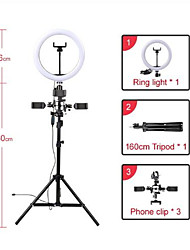 cheap -Muti-funcation 10in 26cm LED Selfie Ring Light Photography Video live Makeup Lamp with Camera Phone holder