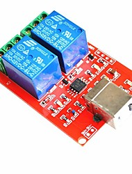 cheap -DC 5V 2-CH Channel Relay Module Computer USB Control Switch for Arduino