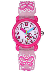 cheap -Kids Sport Watch Automatic self-winding Cartoon Water Resistant / Waterproof Analog White Blushing Pink / Silicone