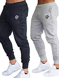 cheap -Men's High Waist Joggers Jogger Pants Track Pants Sports Pants Sweatpants Athletic Athleisure Wear Bottoms Drawstring Running Walking Jogging Training Breathable Moisture Wicking Soft Sport Black Red