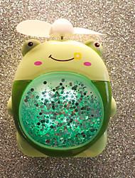 cheap -Quicksand Night Light Fan USB Charging Fan Student Dormitory Office Handheld Portable Fan