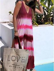 cheap -Women's Shift Dress Maxi long Dress - Sleeveless Color Block Summer Work 2020 Wine Blushing Pink Green Gray S M L XL XXL XXXL XXXXL XXXXXL