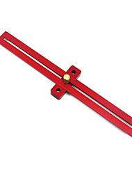 Недорогие -алюминиевый сплав 370 мм масштаб мера разметка линейка деревообрабатывающий T-типа отверстие линейки маркировки инструмент
