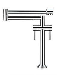 Недорогие -смеситель для кухни - две ручки хромированная кастрюля с одним отверстием
