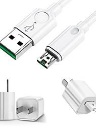 Недорогие -Micro USB Кабель 3 A 1.0m (3FT) Быстрая зарядка ПВХ Адаптер USB-кабеля Назначение Samsung / Huawei