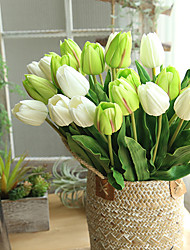 Недорогие -46 см длиной тюльпан искусственный цветок пу искусственный латекс букет настоящие сенсорные цветы для декоративных цветов для свадьбы и венков