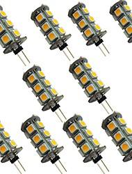 cheap -10pcs 2 W LED Bi-pin Lights 200 lm G4 18 LED Beads SMD 5050 Warm White White 12 V