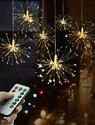 cheap -Festival Stellar Ball Pendant String Lights 200 Leds DIY Fireworks Copper Fairy Garland Christmas Lights Outdoor Twinkling Light