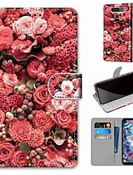 Недорогие -Чехол для LG Q70 / LG K50S / LG K40S кошелек / визитница / с подставкой для всего тела Чехлы из розовой кожи ПУ / ТПУ для LG K30 2019 / LG K20 2019