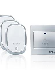 Недорогие -Беспроводной дверной звонок cacazi водонепроницаемая кнопка батареи 300 м дистанционный светодиодный фонарик для дома беспроводной звонок 36 звонков 4 громкости