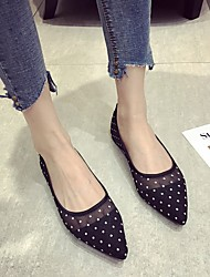 cheap -Women's Loafers & Slip-Ons Flat Heel Pointed Toe Daily Mesh Black Beige Gray