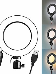 cheap -LED Selfie Stick Ring Fill Light USB Dimmable Phone Ring Light Plug-in Use 8 inch
