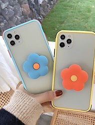 cheap -Case For Apple iPhone 11 / iPhone 11 Pro / iPhone 11 Pro Max Shockproof / with Stand Back Cover Flower Plastic