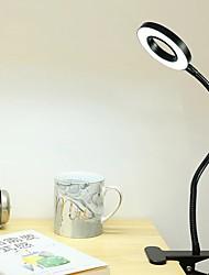 Недорогие -Лампа для чтения Несколько цветов / Защите для глаз / Диммируемая Современный современный Работает от USB Назначение Спальня / Кабинет / Офис Металл DC 5V Черный / Серебряный