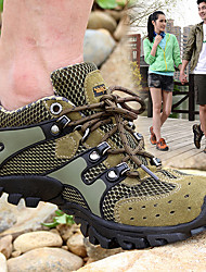 cheap -Men's Hiking Shoes Mountaineer Shoes Breathable Anti-Slip Wear Resistance Low-Top Running Hiking Climbing Spring Summer Grey Khaki Brown Coffee / Round Toe