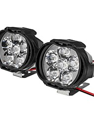 cheap -2pcs 6 LED 9-85V 10W Black Motorcycle Headlights Motorbike Driving Fog Spot Ligh Switch